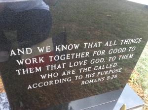 back of headstone